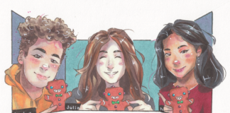 Drawing of 3 Youth Council Members